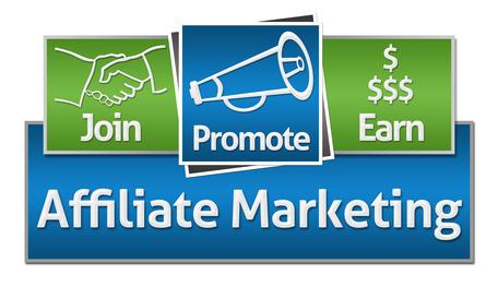 Affiliate Marketing Green Blue Squares